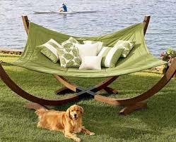 ergonomic hammock for indoor and outdoor relaxing backyard ideas