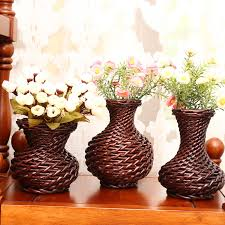 Wicker Vases Pure Handmade Porcelain 3pcs Set Lots Flower Vases Pot Pack Luxu