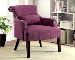 Fabric Accent Chair Purple Fabric Accent Chair Caravana Furniture