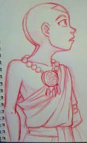 aang sketch red pencil by amiraelizabeth on deviantart