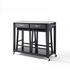 Crosley Kitchen Cart Granite Top 100 Stainless Top Kitchen Island Kitchen Island Stainless