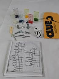 clue game pawns weapons dice score pad replacement parts parker