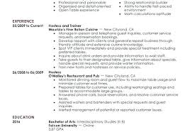hostess resume exles restaurant waiter resume restaurant hostess resume restaurant