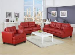 contemporary full leather red sofa set 44l2540 red cabot red red leather sofa