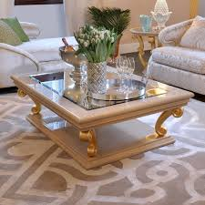 Italian Designer Bronze Glass Storage Coffee Table - Interior design coffee tables