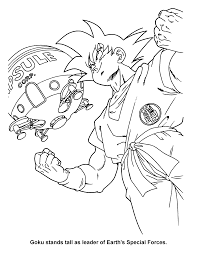 coloring page dragon ball z coloring pages 8