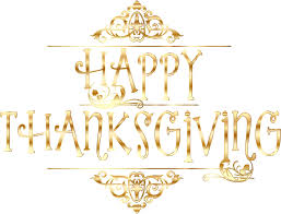 image happy thanksgiving clipart gold happy thanksgiving typography no background