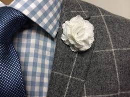 lapel flower pacino white flower lapel pins