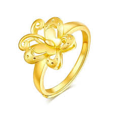 butterfly engagement ring aliexpress buy 24k yellow gold ring s butterfly