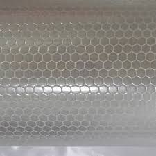 china printable pvc prismatic honeycomb reflective vinyl for
