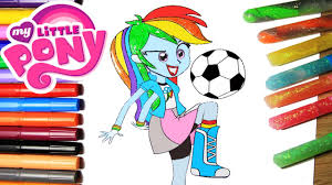 my little pony coloring book mlp equestria rainbow dash