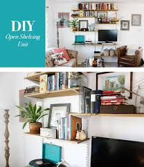 Livingroom Shelves Open Shelving Living Room Home Design Inspirations
