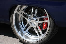 Muscle Car Rims - 1966 chevy nova pro touring billet split 5 star wheels blue