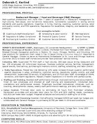 Resume Examples For Jobs In Customer Service by Resume Examples For Restaurant Jobs