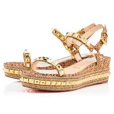 cataclou 60 gold cork women shoes christian louboutin