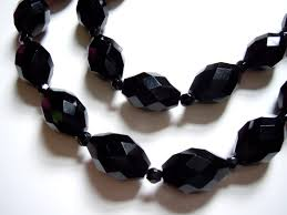 black glass necklace images Closeup black beads sarara couture jpg