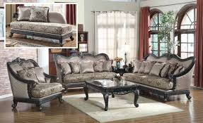 Formal Sofas For Living Room European Design Formal Living Room Luxury Sofa Set Dark Wood Frames