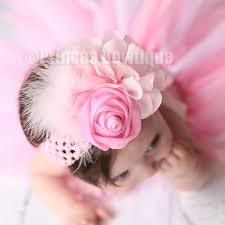 headband baby light pink baby vintage headband princess bowtique