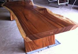 Acacia Wood Dining Table Dining Or Conference Table Reclaimed Solid Slab Acacia Wood Table