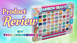 review of rainbow bead kit letters and for rainbow loom