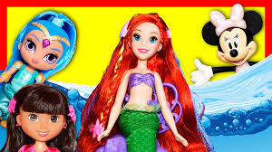 mermaid ariel disney princess shimmer u0026 shine dora