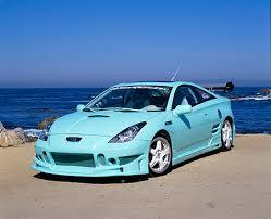custom 2000 toyota celica 2000 toyota celica custom mintgreen pearl blue 3 4 front view on