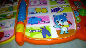 vtech touch and teach word book youtube