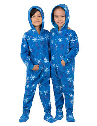 its a snow day hoodie one toddler hooded footed pajamas