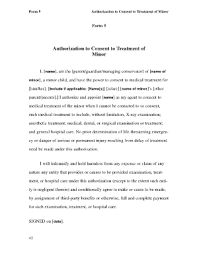 authorization letter for grandparent authorization for consent to medical treatment of minor child