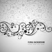 grey floral background in ornamental style vector free