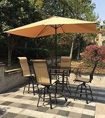 Aluminum Patio Bar Set Discover The Best Outdoor Bar Height Table And Chairs Sets High