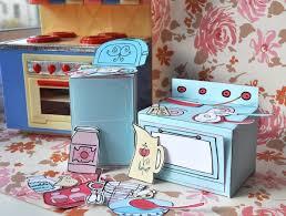 How To Make Doll Kitchen Mini Play Toy Paper Kitchen Pdf Printable Pattern 4 00 Via Etsy