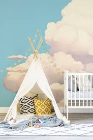 new year new trend wallpaper murals are a flavorful start to kids room nursery cloud wall mural wallpaper decorating