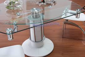round extendable glass dining table home interior design ideas