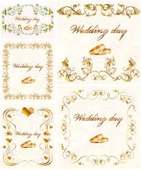 wedding invitations vector gilded wedding invitation vector vector graphics