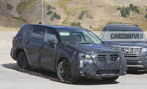 subaru minivan 2018 subaru ascent spy photos u2013 news u2013 car and driver
