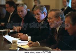 Us Cabinet Secretary U S Secretary Of Defense Colin Powell U S President George W