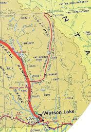 Map Of Yukon Map Of The Nahanni Range Road Yukon In 1972