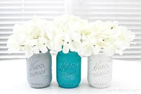 jar vases chalky painted jars 4 real