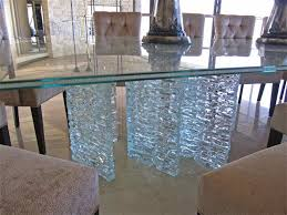frosted tempered glass table top new shattered glass table sans soucie art glass