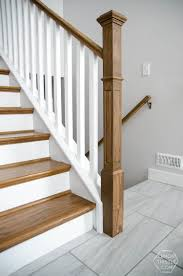 Banister Rail And Spindles How To Install A Wooden Handrail On Split Level Stairs Lemon Thistle