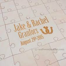 engravable wedding guest book southern wedding guest book puzzle wall woodworks company
