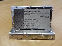 aluminum plate business card display holder ebay