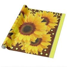 sunflower wrapping paper decorative deco brown yellow sunflower wrapping paper wrapping