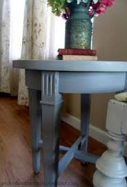 Homemade End Tables by Broyhill End Table Painted With Homemade Chalk Paint Look