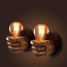 Edison Bulb Wall Sconce Loft Vintage Fist Wall Lamp Mini Small Warehouse Industria Luxury