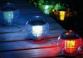 Floating Solar Pond Lights - let light dance and wash over your pool or pond with floating