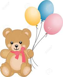 teddy balloons teddy flying balloons royalty free cliparts vectors and