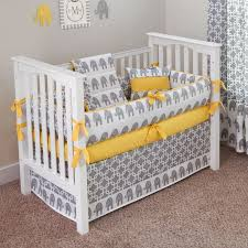 White Crib Set Bedding Neutral Gender Elephant Baby Bedding All Modern Home Designs