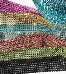 diamond mesh ribbon diamond mesh ribbon by the yard faceted ribbon rhinestone ribbon